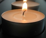 100% Organic palm wax tealight candle