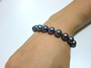 Natural blue-turquoise bracelet, drop ear-rings
