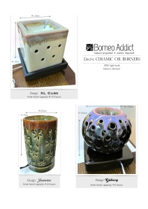 Electric burners- New designs and colours