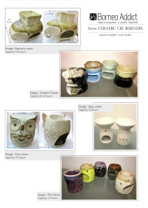 Flame Aroma Burner/ Diffusers: New designs
