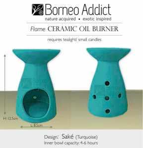 BA Sake Oil Burner-turquoise
